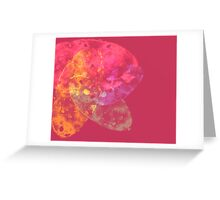 pink and orange abstract Greeting Card