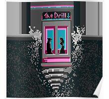 The Drill - Neon noir pixel art mystery Poster