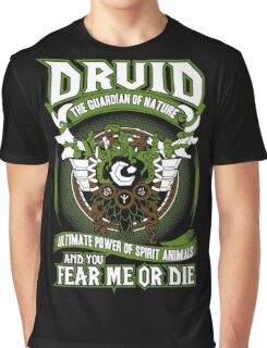Druid The Guardian Of Nature - Wow Graphic T-Shirt