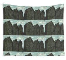 Net Huts in Warm Sunshine Wall Tapestry