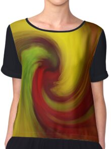 Swirl of Color Chiffon Top