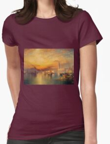 Thomas Moran - View Of Venice 1895. Urban landscape: city view, streets, building, house, Venice , cityscape, architecture, construction, travel landmarks, panorama garden, buildings Womens Fitted T-Shirt