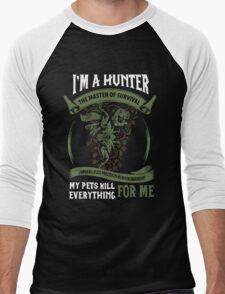 I'm A Hunter The Master Of Survival - Wow Men's Baseball ¾ T-Shirt