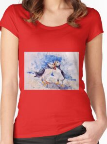 Puffins Women's Fitted Scoop T-Shirt
