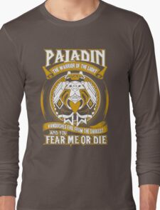 Paladin The Warrior Of The Light - Wow Long Sleeve T-Shirt