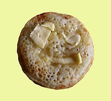 Zombie Crumpet - Butter-me-up-yellow by aint-no-zombie