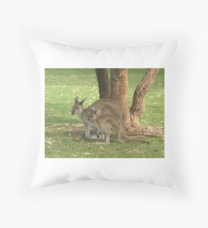 Mother Kangaroo and young Throw Pillow