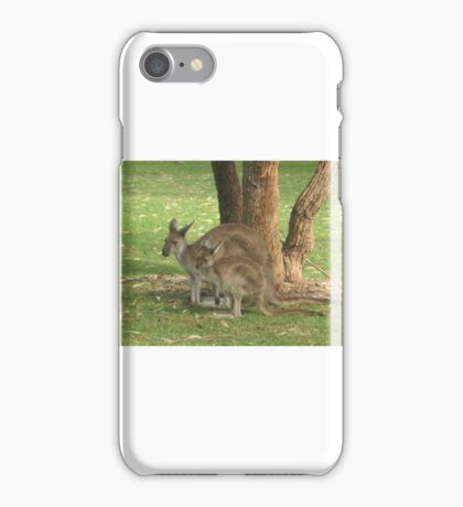 Mother Kangaroo and young iPhone Case/Skin