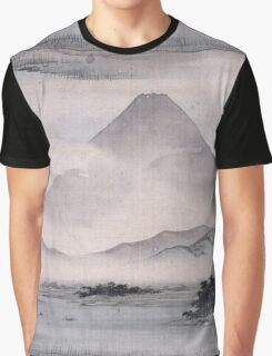 Utagawa Hiroshige - Fuji Marsh, Suruga Province, From Twelve Views Of Mt. Fuji. Mountains landscape Graphic T-Shirt
