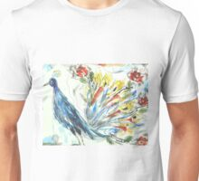 Peacock in Blossom Unisex T-Shirt