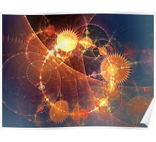 Time and Space on fire Poster