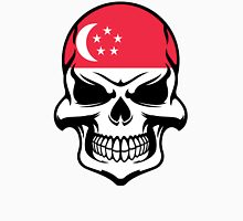 Singaporean Flag Skull Unisex T-Shirt