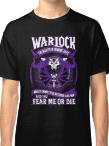 Warlock The Master Of Demonic Arts - Wow Classic T-Shirt