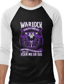 Warlock The Master Of Demonic Arts - Wow Men's Baseball ¾ T-Shirt