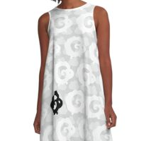 Black Sheep Pattern A-Line Dress