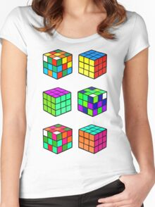 Rubik's Cubes Women's Fitted Scoop T-Shirt