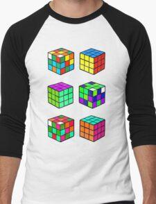 Rubik's Cubes Men's Baseball ¾ T-Shirt