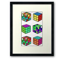Rubik's Cubes Framed Print