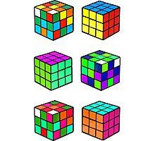Rubik's Cubes Photographic Print