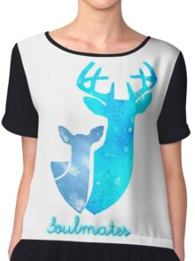 Doe and Stag soulmates Chiffon Top