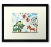 Shepherd-Frog Framed Print