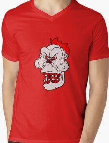 untoter gesicht kopf böse ekelig monster horror halloween zombie design  Mens V-Neck T-Shirt