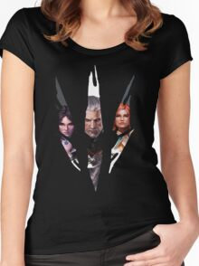 Witcher Characters Women's Fitted Scoop T-Shirt