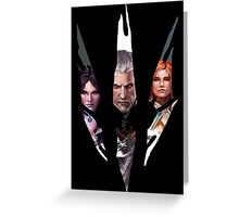 Witcher Characters Greeting Card