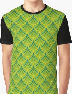 Green Dragon Scales Pattern Graphic T-Shirt