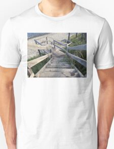Staircase to the water's edge Unisex T-Shirt