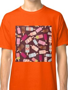 Icecream on brown background Classic T-Shirt
