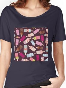 Icecream on brown background Women's Relaxed Fit T-Shirt