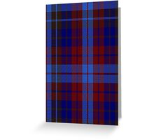 01120 Vincent Fashion Tartan  Greeting Card
