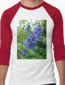 Nature, USA, Alaska, Flower, blue Men's Baseball ¾ T-Shirt