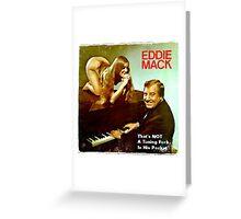 Vinyl Record Cover - Eddie Mack Greeting Card