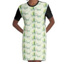 Stick insects shyly falling in love Graphic T-Shirt Dress