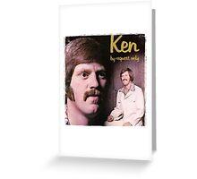 Vinyl Record Cover - Ken Greeting Card