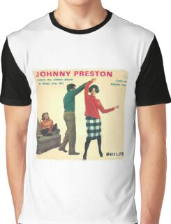 Vinyl Record Cover - Johnny Preston Graphic T-Shirt
