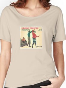 Vinyl Record Cover - Johnny Preston Women's Relaxed Fit T-Shirt