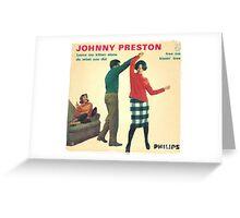 Vinyl Record Cover - Johnny Preston Greeting Card