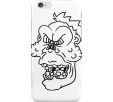 untoter gesicht kopf böse ekelig monster horror halloween zombie design  iPhone Case/Skin