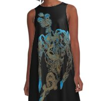 Tattoo Ghost's Ink Memories A-Line Dress