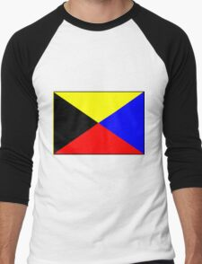 Letter Z Flag Men's Baseball ¾ T-Shirt