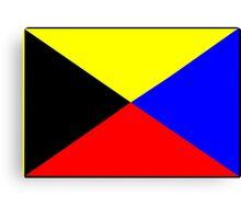 Letter Z Flag Canvas Print