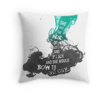 """Heir of Fire: """"She was the heir of ash and fire...."""" Throw Pillow"""