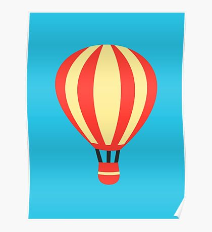 Classic Red and Yellow Hot air Balloon Poster