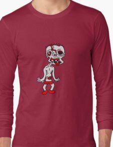 untoter alter mann zombie cool ekelig laufen horror monster halloween comic cartoon  Long Sleeve T-Shirt