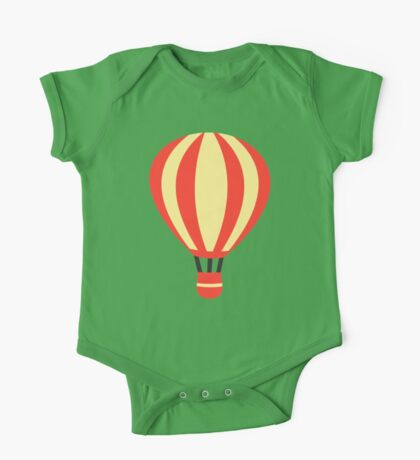 Classic Red and Yellow Hot air Balloon One Piece - Short Sleeve