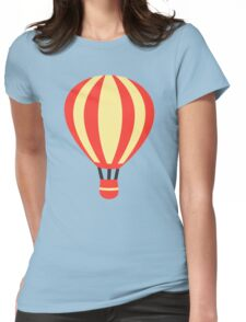Classic Red and Yellow Hot air Balloon Womens Fitted T-Shirt