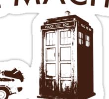 Time Machine Through Time Sticker